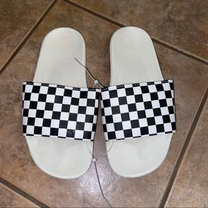 Vans Checkered Slide Sandal Flats Shoes sz 8